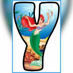 Princesa Ariel Disney, Disney Letters, Easy Minecraft Houses, Ariel The Little Mermaid, Letter Art, 4 Months, Coco, Alphabet, Disney Characters