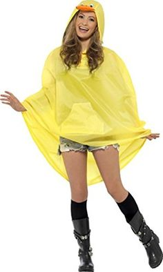 Unisex Adult Fancy Dress Animals Costume Festival Waterproof Duck Party Poncho >>> ** AMAZON BEST BUY **  #Halloween