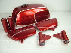 Honda cb 350 four flake matador red