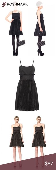 """NWT French Connection Crinkle Dress NWT French Connection Dress...You've found the perfect LBD with this Hazel Crinkle Dress by French Connection. Great for parties and evenings out, this Hazel Crinkle Flared Dress has adjustable spaghetti straps, panel detail at bust, crinkled full skirt, zip detail at back and has detachable net skirt. Wear with platform sandals and a statement jewel embellished necklace for extra sparkle. Length: 30"""" from top of bust. Material Contents: Rayon. Garment…"""