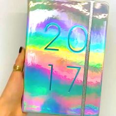 GIVEAWAY  This holographic @typoshop 2017 agenda is up for grabs! To enter:  Follow me on IG and Twitter (@luciebfink) & comment below letting me know WHY you need to stay organized this year.  I will DM the winner tonight