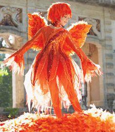 I love this costume. fiery phoenix girls costume - Chasing Fireflies