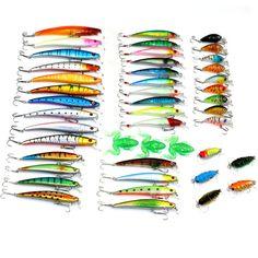 45pcs plastic minnow cicada crankbait soft frog fishing lures set bass wobbler pike carp trout perch peche catfish fishing baits