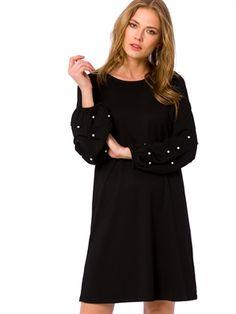Kolları İnci Detaylı Elbise - LC WAIKIKI