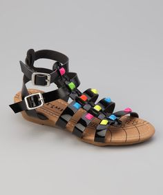 152f93cadb2f Black Suzy Gladiator Sandal