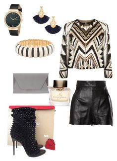 """Untitled #8"" by jpr-fowler on Polyvore featuring Alice + Olivia, Moschino, Christian Louboutin, Noee, Tory Burch, Skagen, Kenneth Jay Lane and Burberry"