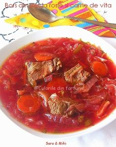» Ciorba cu perisoare din ciuperciCulorile din Farfurie I Foods, Thai Red Curry, Soup Recipes, Beef, Ethnic Recipes, Supe, Salads, Meat, Steak