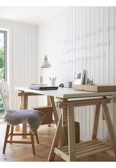 IKEA LINNMON FINNVARD Table, white, birch 150x75cm