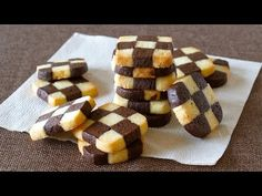 How to Make EASY Checkerboard Cookies (Ice Box Cookie Recipe) 簡単!チェックボックスクッキーの作り方 (アイスボックスクッキー レシピ) - YouTube