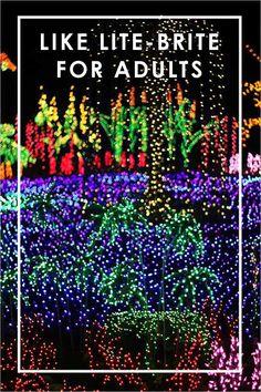 Garden d'Lights Holiday Light Show at the Bellevue Botanical Gardens in Washington