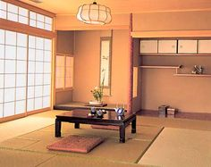 Japanese Architecture: Modern Japanese home with tatami mats and shoji screens. In Japan, homes were measured by the number of tatami mats. A 'jo' is the unit of measurement. Japanese Furniture, Japanese Interior, Chinese Design, Japanese Design, Japanese Style, Sliding Door Wardrobe Designs, Interior Design History, Tatami Mat, Asian Home Decor