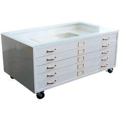 Vintage Industrial Repurposed Flat File Cabinet Architect