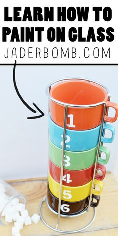 Easy DIY: Learn how to stencil numbers on mugs and glass.