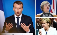 """The Brexit negotiations are """"far from"""" settling Britain's financial obligations to the EU, Emmanuel Macron has said."""