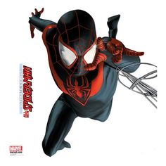 It's Miles Morales as the new Spiderman in Marvel's Ultimate Comics and now available as a Wall Jammer. Get this awesome giant wall sticker that's not only great for any bedroom wall but also for Spid