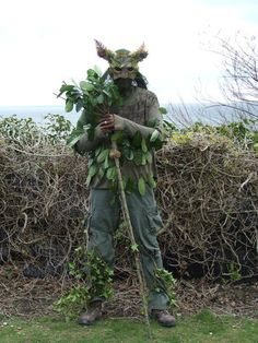 Green Man costume idea.