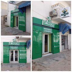 décoration façade boutique