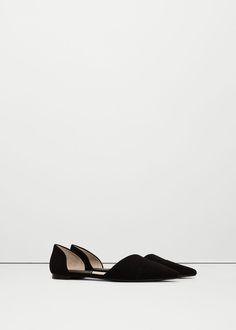 Туфли с заостренным мысом, на плоской подошве | MANGO МАНГО
