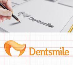 logo sketch for dentist identity design