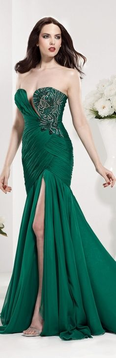 Tarik Ediz Gorgeous Green Gown