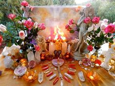 wicca altar - despite misinformation wicca is a gentle nature religion that is not related to satanism