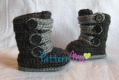 Crochet Pattern Strappy Baby Boots by PatternMa on Etsy, $5.00