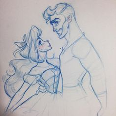 """Nicole Garber - """"Swoon and Marooned Sketches Of Love, Art Sketches, Art Drawings, Couple Drawings, Disney Drawings, Illustrations, Illustration Art, Rendering Drawing, Drawing Tips"""