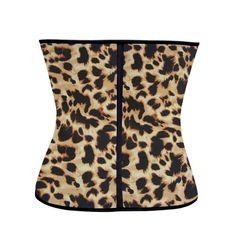 390211beff6f6 Klassische Latex Shaper Best Body Shaper für Frauen Taille Cincher Korsett  Leopard Muster