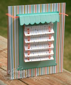 Interactive mini blinds card! There's a tutorial on SplitCoastStampers!!