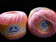 DMC BABYLO crochet thread size 10....varigated light pinks, no red, no white