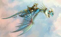 Astrid e Tempestade !!!
