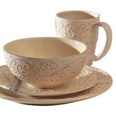 Bianca Cream 16-pc. Dinnerware Set