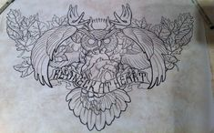 chest piece Redneck at heart owl hunting design by 5stardesigns