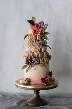 Amazing Wedding Cakes, Unique Wedding Cakes, Unique Cakes, Wedding Cake Designs, Pastel Wedding Cakes, Fondant Wedding Cakes, Cakes To Make, Wedding Cake Flavors, Wedding Desserts