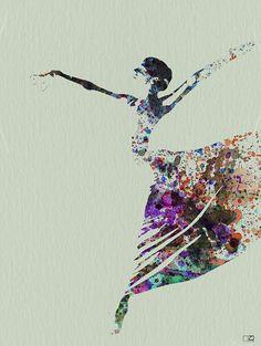 Ballerina dancing watercolor Canvas Print / Canvas Art by Naxart Studio Watercolor Canvas, Watercolor Paintings, Girl Paintings, Watercolors, Framed Canvas Prints, Canvas Art, Abstract Canvas, Canvas Size, 3 Arts