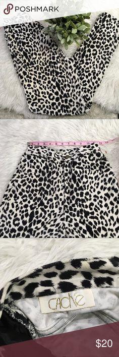 Cache Black and White Leopard Pants Super soft pants Cache Pants