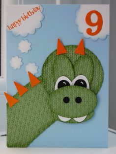 Punch Art Dragon - circles, ovals, square lattice embossing - no instructions/source? unless you register for site  :-( sorry but it was too cute!!