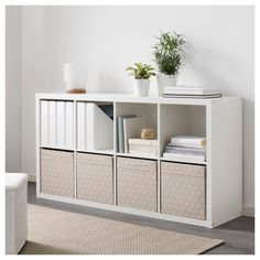 The IKEA Kallax line Storage furniture is an important section of any home. Stylish and wonderfully simple the rack Kallax from Ikea , for example. Storage Hacks, Cube Storage, Storage Ideas, Ikea Box Shelves, Storage Solutions, Bookshelf Ideas, Cube Organizer, Storage Design, Makeup Storage