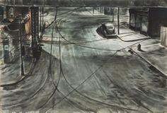 CHARLES BURCHFIELD City Snow (1944)