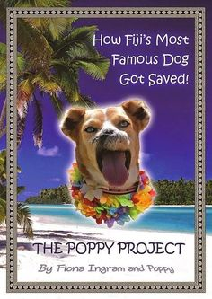 """""""The Poppy Project: How Fiji's Most Famous Dog Got Saved!""""  by Fiona Ingram"""