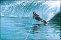 My favorite water sport right here, slalom... It's been a while but I could get it on with that one