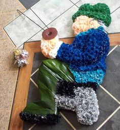 Fisherman Flowered Funeral Tribute