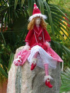*zauberhaftesTilda Mädchen mit Matrjoschka*Tilda* Engel *Shabby,Landhaus*Herbst in Möbel & Wohnen, Dekoration, Sonstige | eBay