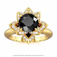 Weddbook is a content discovery engine mostly specialized on wedding concept. You can collect images, videos or articles you discovered  organize them, add your own ideas to your collections and share with other people - Black Diamond Lotus Ring