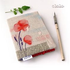 notebook with handmade cover...