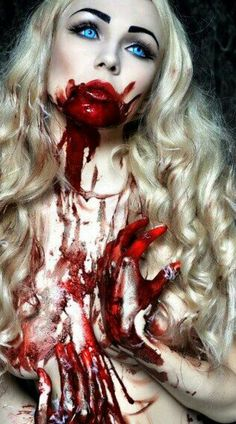 Bloody kill.... #vampire #sexy #blueeyes//// GOD LOVES EVERYONE!!!! JOHN 3:16