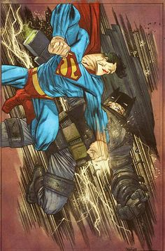 Superman vs. Batman by James Harren, colours by Mike Spicer *