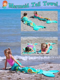 A beach vacation is an opportunity to flaunt your mermaid side. Make it easy with our tutorial for DIY beach towel mermaid tails, perfect for any little mermaid or merman in your life. DIY Beach Towel Mermaid Tails In t. Mermaid Towel, Mermaid Beach, Diy Mermaid Tail, Mermaid Tail Blanket, Sewing Hacks, Sewing Crafts, Sewing Projects, Sewing For Kids, The Little Mermaid