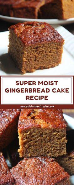 Super Moist Gingerbread Cake Recipe Super Moist Gingerbread Cake on Best Recipes Ideas 3512 Just Desserts, Delicious Desserts, Dessert Recipes, Yummy Food, Fall Cake Recipes, Healthy Cake Recipes, Sheet Cake Recipes, Food Cakes, Cupcake Cakes
