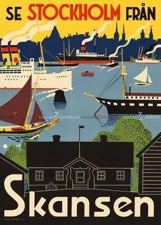 Iwar Donnér - Affischer Retro - Se Stockholm från Skansen